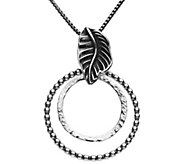 Or Paz Sterling Double Circle Pendant with Chai n - J380450