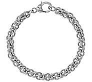 Judith Ripka Verona Sterling Basket-Weave Bracelet, 20.5g - J381450