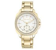 Vince Camuto Womens Goldtone Crystal BraceletWatch - J383550