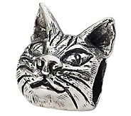 Prerogatives Sterling Maine Coon Cat Head Bead - J299551