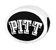 Sterling Silver University of Pittsburgh Bead - J300751