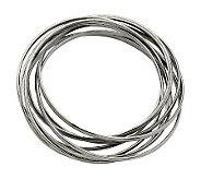 Stainless Steel Intertwined Bangle Bracelet - J302151
