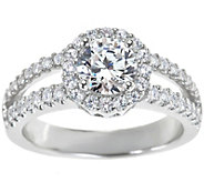 Diamond Halo Ring, 14K Gold 1-1/4 cttw, by Affinity - J341451