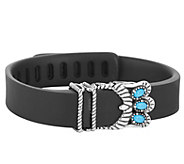 American West Sterling Turquoise Fitbit Flex Accessory - J341751