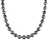 Graduated Cultured Tahitian Pearl Baroque Necklace, 14K - J345751