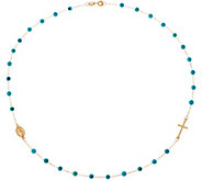 Italian Gold 18 Gemstone Bead Necklace, 14K Gold 2.0g - J350951