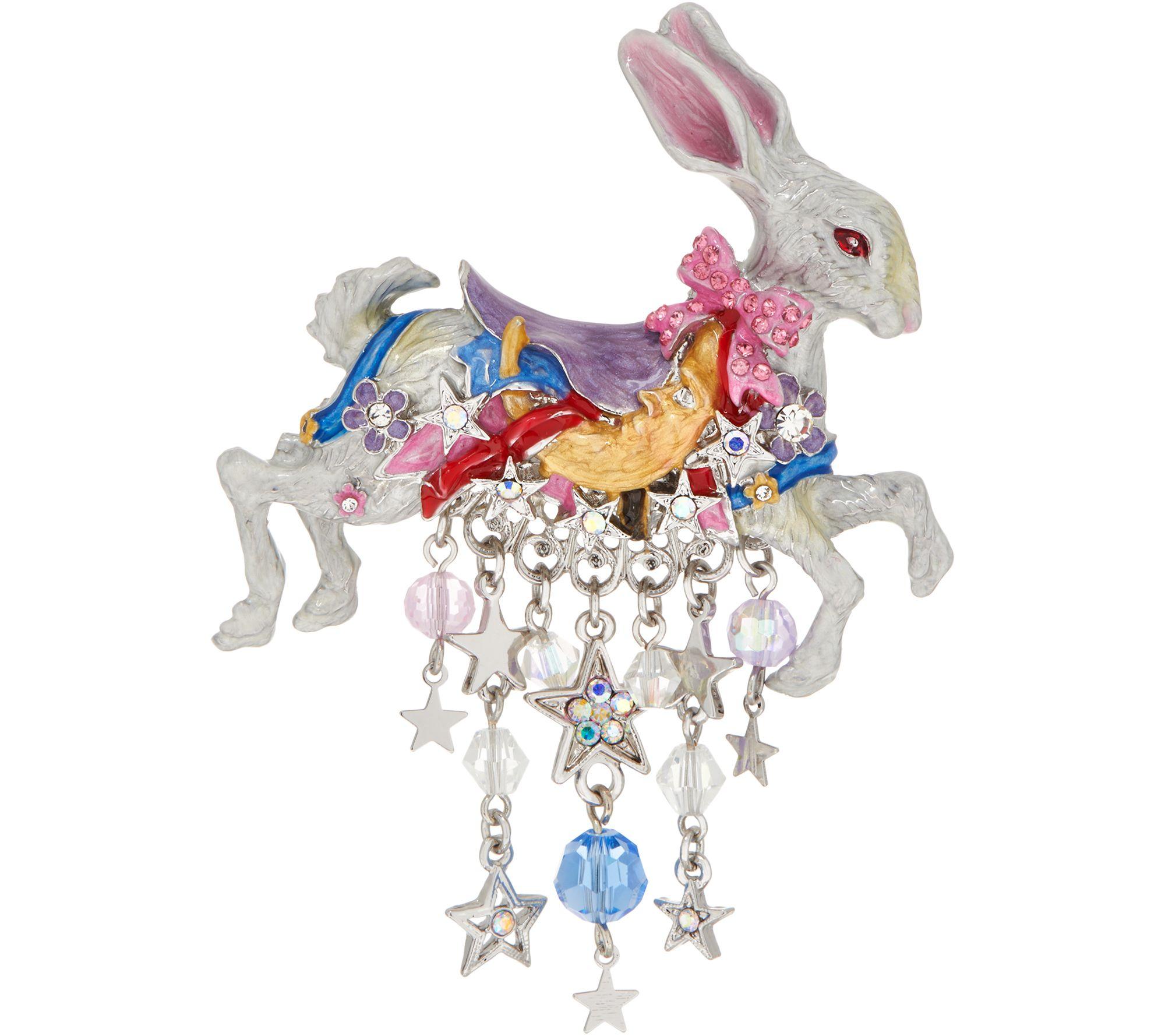 Kirks Folly Carousel Bunny Pin - Page 1 — QVC.com