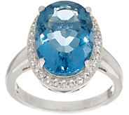 Color Change Fluorite and White Zircon Ring, Sterling - J354051