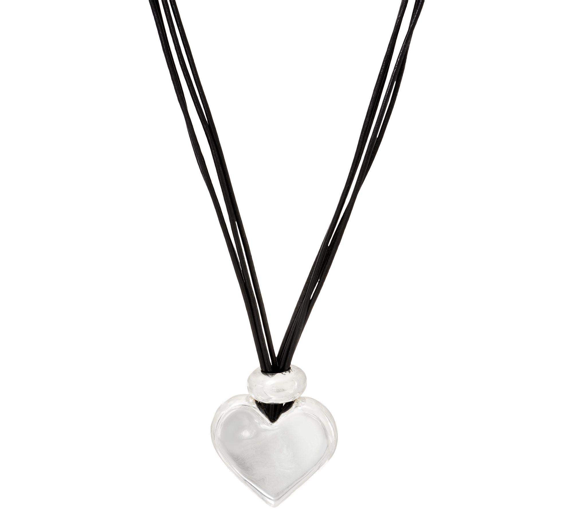 d78218d4e7f Simon Sebbag Sterling Silver   Leather Cord Pendant Necklace - Page 1 —  QVC.com