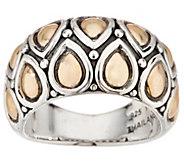 JAI Sterling Silver & 14K Gold Lotus Petal Band Ring - J354951