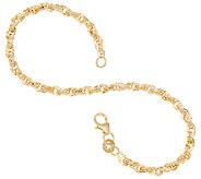 Italian Gold 6-3/4 Twisted Rolo Chain Bracelet, 14K 2.0g - J357451