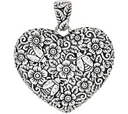 JAI Sterling Silver Carved Garden Party Heart Enhancer, 24.3g - J357751
