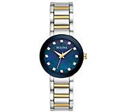 Bulova Womens Stainless Two-Tone Diamond Bracelet Watch - J384251