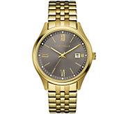 Caravelle Mens Goldtone Stainless Steel Bracelet Watch - J384651
