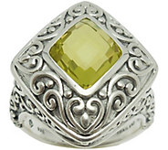 Elyse Ryan Sterling Silver 3.00 cttw Lemon Quartz Ring - J385451
