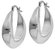 Italian Gold Graduated Hoop Earrings, 14K - J385551