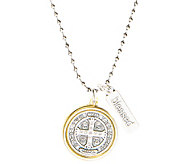 My Saint My Hero Benedictine Blessing Two-ToneNecklace - J385651
