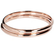 Bronzo Italia Set of 2 Polished Bangles - J385951
