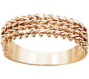 Imperial Gold Sparkle Wheat Ring, 14K - J388751