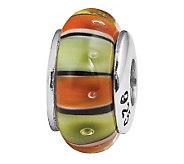 Prerogatives Sterling Orange and Green GlassBead - J108852