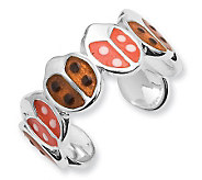 Sterling Enameled Ladybug Toe Ring - J111452