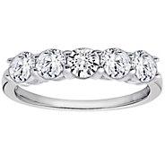Diamonique 1.00 cttw 5 Stone Ring, Platinum Clad - J111652