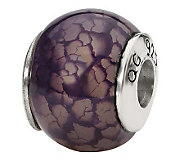 Prerogatives Sterling Purple Crackle Agate Gemstone Bead - J298252