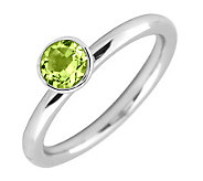 Simply Stacks Sterling 5mm Round Peridot Solitaire Ring - J298752