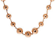 Bronzo Italia 21 Graduated Hammered Bead Necklace w/ Extende - J311952