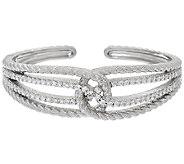 Judith Ripka Sterling_2.45 cttw Diamonique Wrap Cuff_Bracelet - J325152
