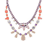 LOGO Links by Lori Goldstein Extravagant Crown Bib Necklace - J346952