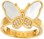 Lauren G Adams Goldtone Mother-of-Pearl Butterfly Ring - J347052