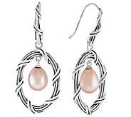 Peter Thomas Roth Sterling Oval Earrings with Pearl Drop - J349852