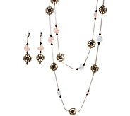 Linea by Louis DellOlio Flower and Bead Necklace Set - J350152