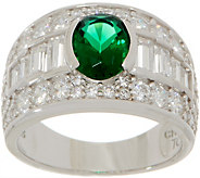 TOVA for Diamonique Simulated Emerald Ring, Sterling Silver - J354752