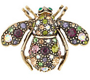 Joan Rivers Vintage Inspired Jeweled Garden Bee Pin - J355052