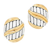 Peter Thomas Roth Sterling Silver & 18K Clad Shield Earrings - J355752