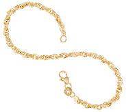 Italian Gold 7-1/4 Twisted Rolo Chain Bracelet, 14K 2.1g - J357452
