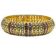 Sterling 17-ct-tw Multi-Gemstone Domed Line Bracelet - J376552
