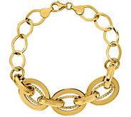 14K Bold Oval Link 8 Bracelet, 8.9g - J377252