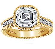 Judith Ripka 14K Clad 3.30 cttw Asscher-Cut Ring - J382452