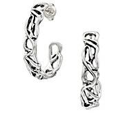 Hagit Sterling Silver Openwork Hoop Earrings - J484552