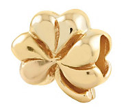 Prerogatives Gold-Plated Sterling Clover Bead - J302653
