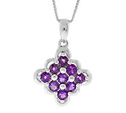 Sterling Amethyst Scalloped-Edge Pendant with 18 Chain - J304753