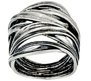 Or Paz Sterling Silver Bold Crossover Ring - J331453