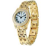 Diamonique Pave Bracelet Strap Watch - J332253