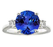 Premier 4.25ct Tanzanite & 3/10cttw Diamond Ring, 14K - J336253