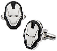 Marvel Stainless Steel Iron Man Face Cuffflinks - J343053
