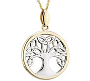 Solvar Two-Tone Celtic Family Tree Pendant w/ Chain, 14K - J343553