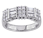 Round and Baguette Diamond Ring, 14K, 9/10 cttw, by Affinity - J343753